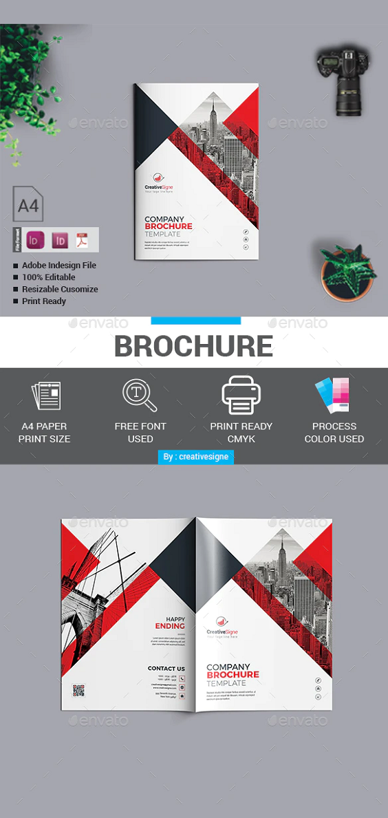 A4 Paper Size Brochure Template