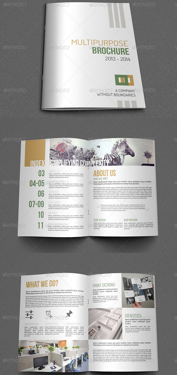 A4 Size Multipurpose Brochure Template