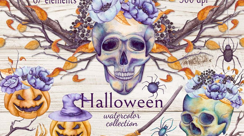 Floral Halloween Template Ideas