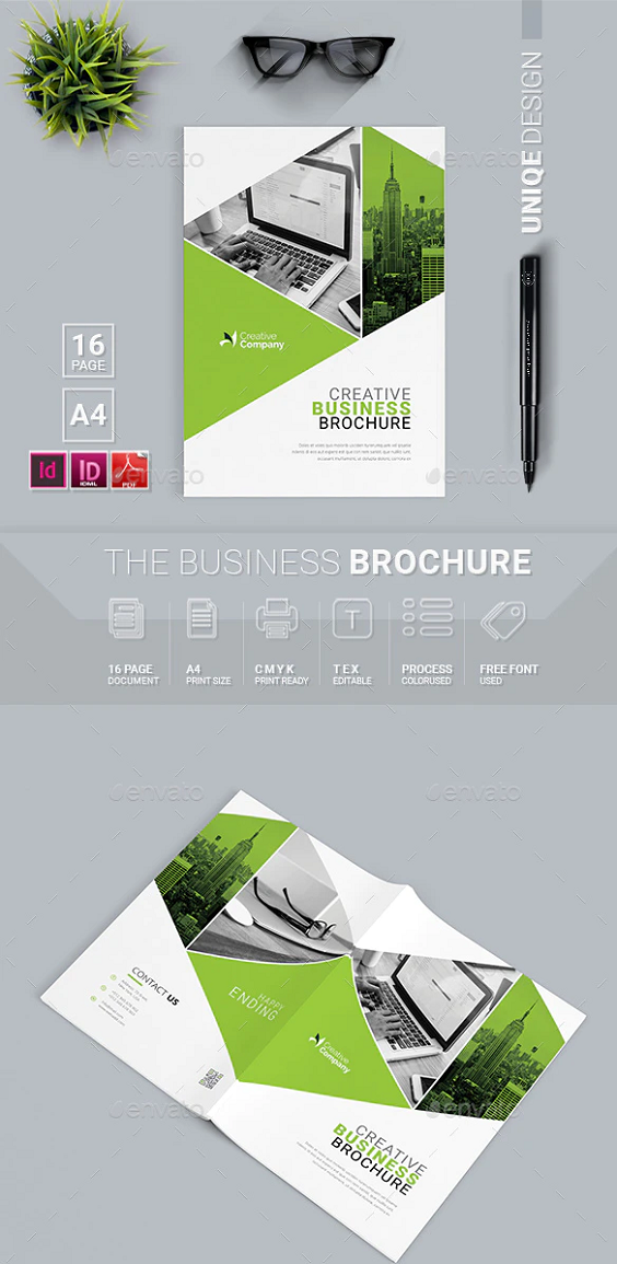 Green Color Business Brochure Template