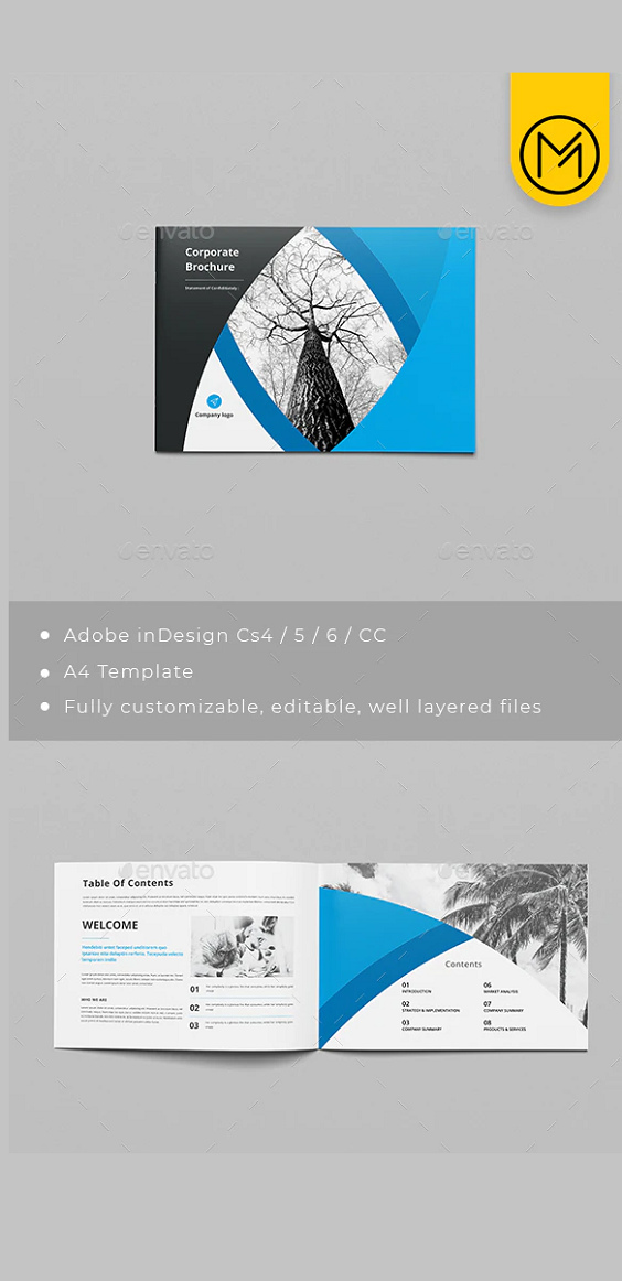 Sample Adobe Indesign Brochure. Details A4 210×297 mm (8.27×11.7 inches) + bleeds 3 mm 300 DPI CMYK – print ready 24 Pages Easy to modify, change colors Fonts and images: open-sans