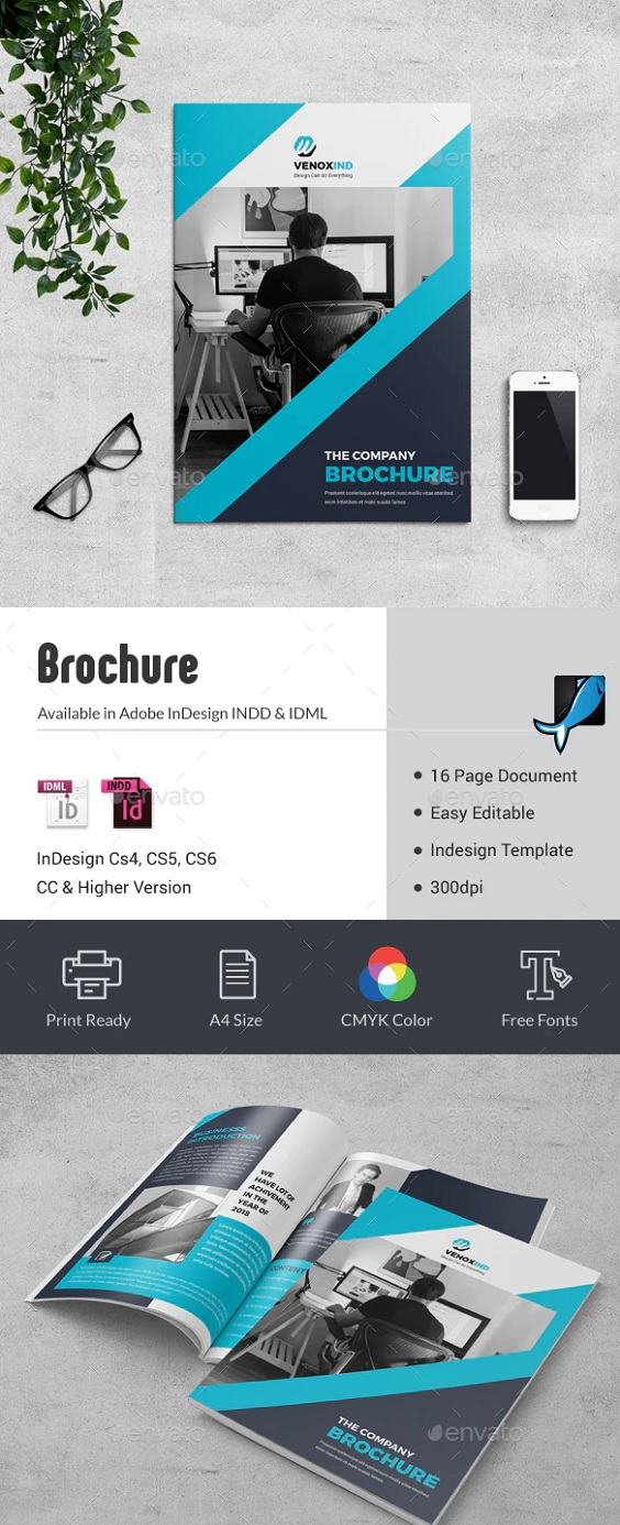 This Brochure Template can be used for any business purpose or others Projects. All fonts, shape and other elements are very easy to customize, Features: A4 Size 16 Pages 300dpi CMYK Color Mode Compatible With InDesign CS4, CS5, CS6 & CC Compatible With Photoshop CS3, CS4, CS5, CS6 & CC