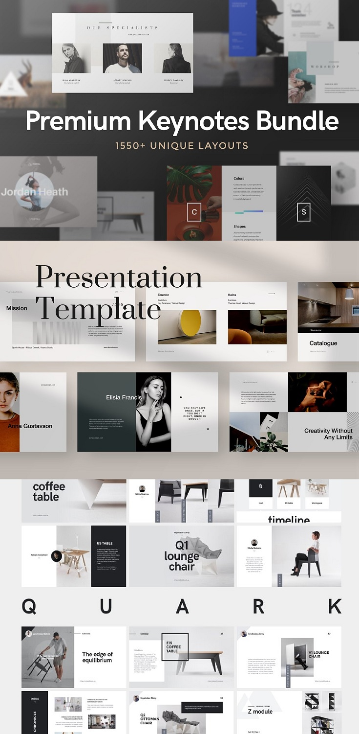 Our all keynote presentations with 1620+ slides in one advantageous pack.  We adding new templates to the bundle for free without change bundle price.