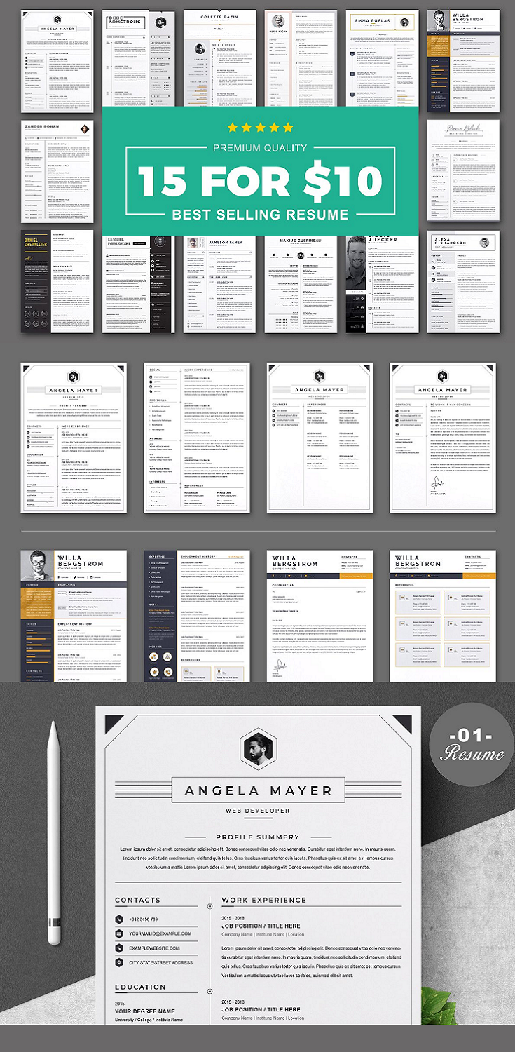 Premium Resume Template Bundle , We make every piece of our resume design, such as text, color, photos, design spaces, and other related topics, to ensure that you will definitely be selected for a job interview and we also hope that if you use our resume design you must be selected for your expected Job employment.