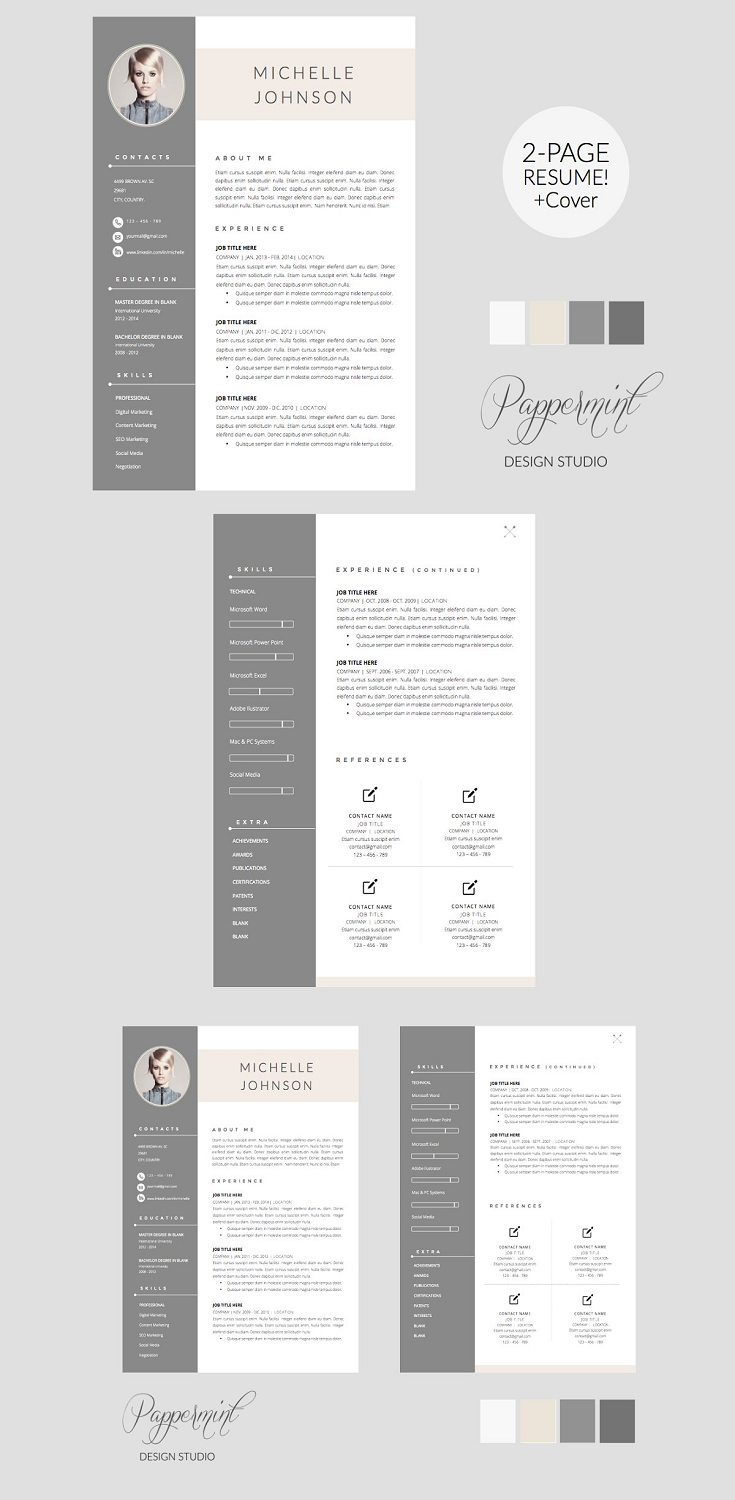RESUME Template - Cover Letter WORD US Letter and A4 Sizes Microsoft Word Templates. 1 Page Resume Template 2 Page Resume Template Optional 3rd page Resume Template Cover Letter Template List of Fonts with web links to download.