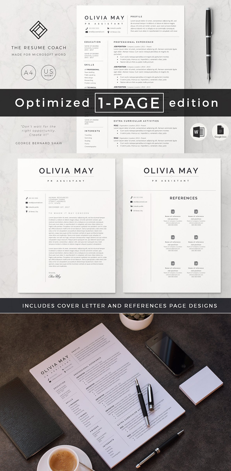 This is our 1 page resume template. Preparing a resume should never be a stress anymore! We are a team of experienced professionals with extensive exposure to the job recruitment industry. Our thorough knowledge of what it needs for a resume to stand out has lead us to create the ideal designs for our easy to use templates.