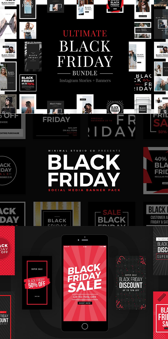 Black Friday is here! In this Ultimate Black Friday [Cyber Monday] Bundle you will find everything you need to create and launch your promotions and boost your sales during the holiday season. take advantage of this deal and prepare for the major sales event of the year.