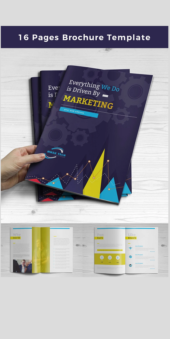 16 Pages Business Corporate Brochure