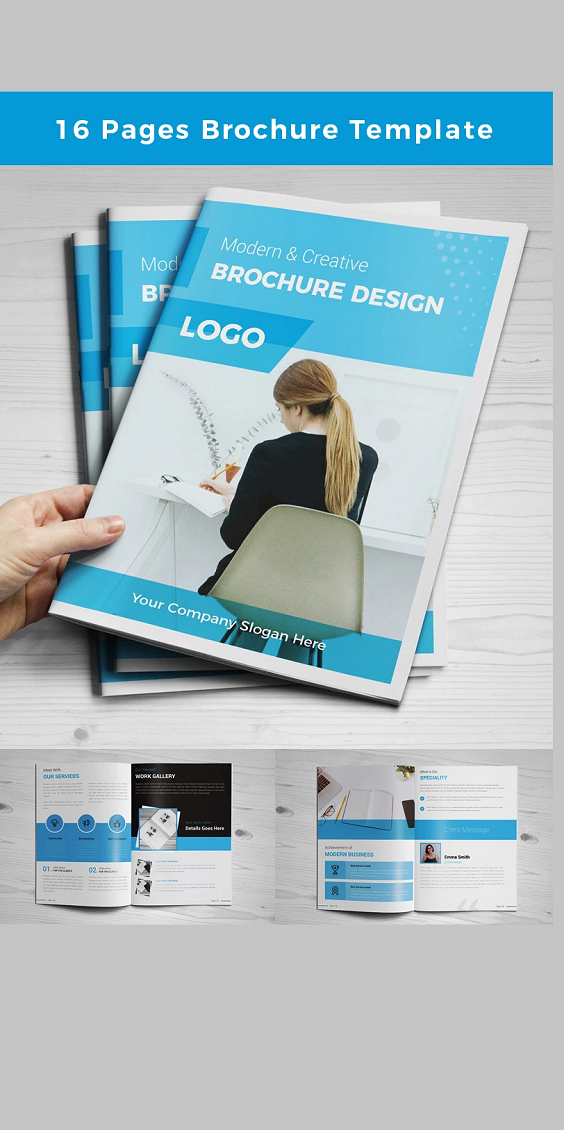 16 Pages Modern Corporate Brochure