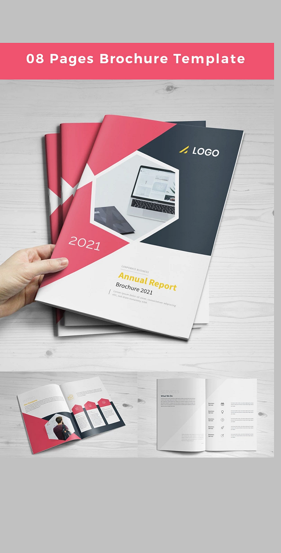 8 Pages Brochure Corporate Design