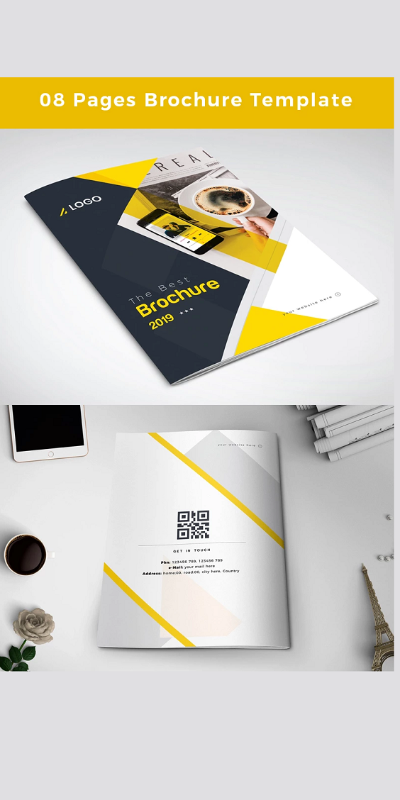 8 Pages Brochure Design