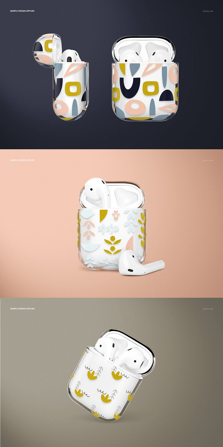 AirPods Clear Case Mockup Set 02
