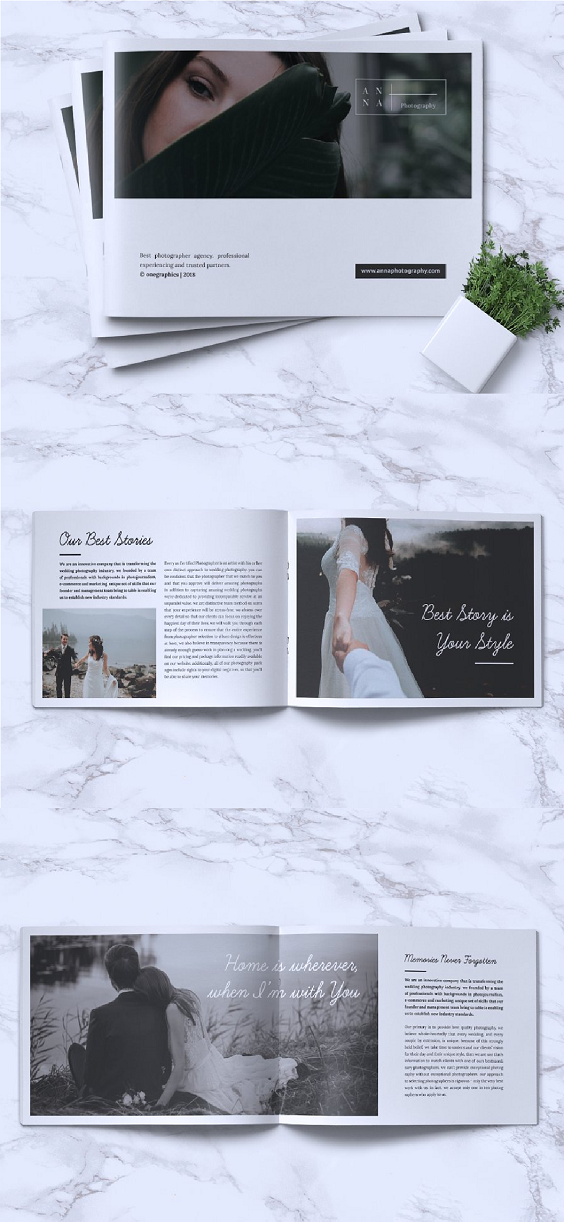 Beautiful Wedding Photography Brochures