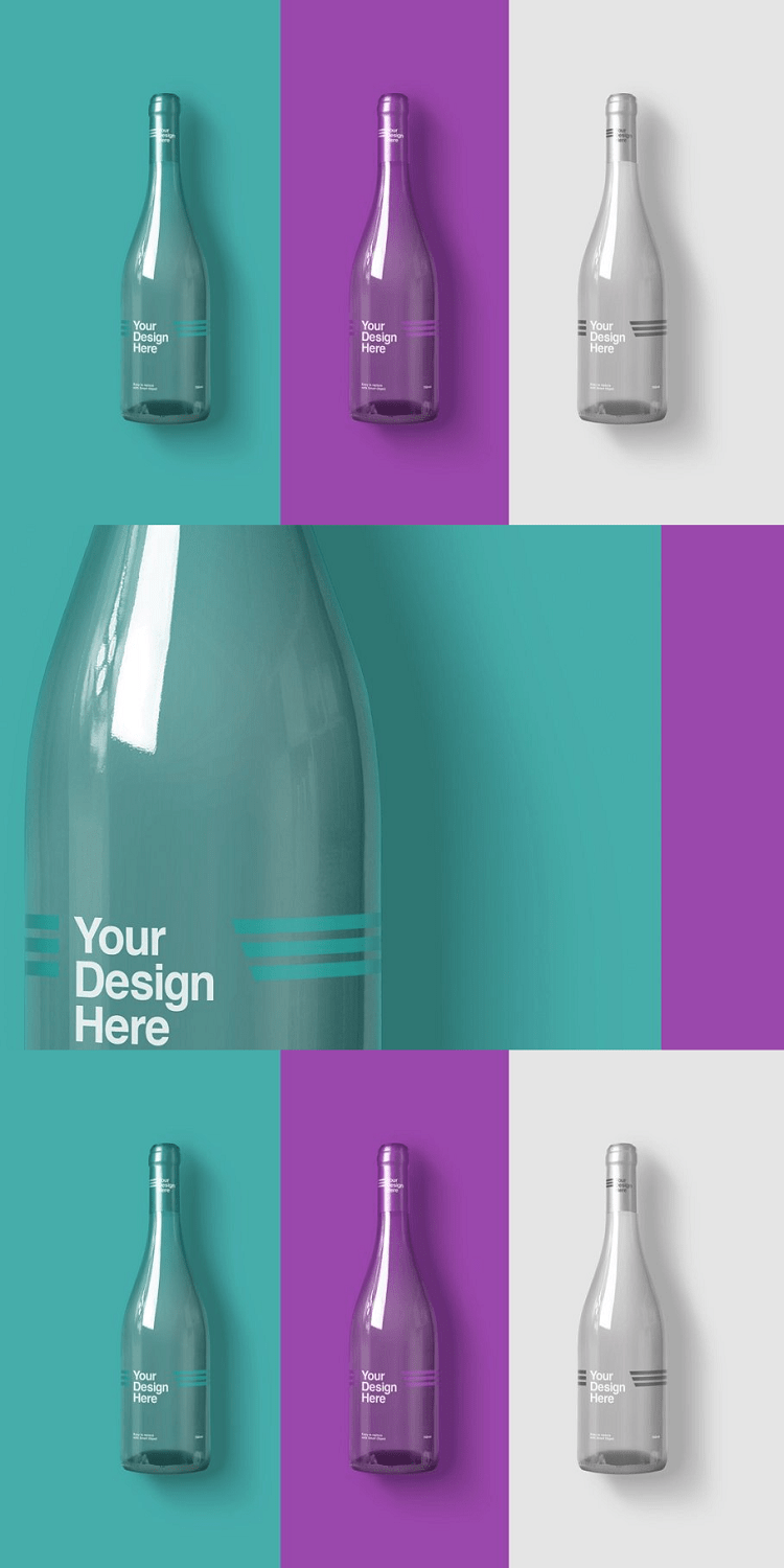 Bottle Wine Mockups