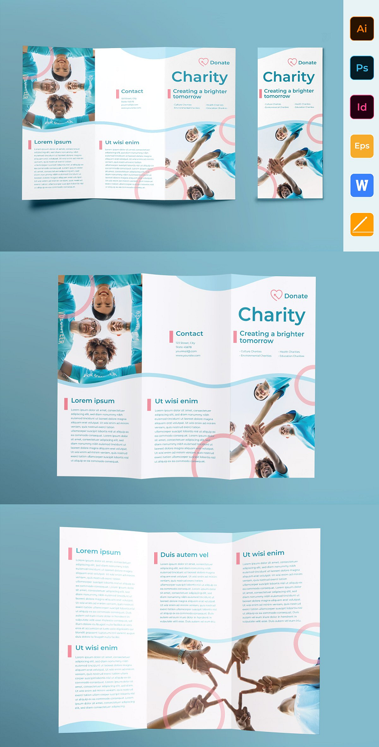 Charity Brochure Trifold
