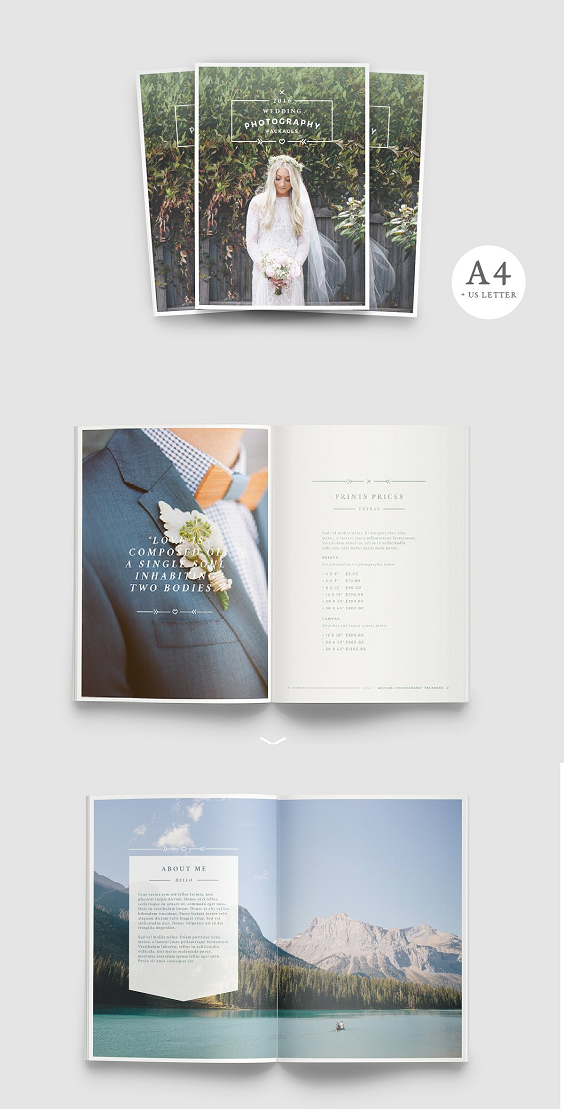 Photography Brochure For Wedding