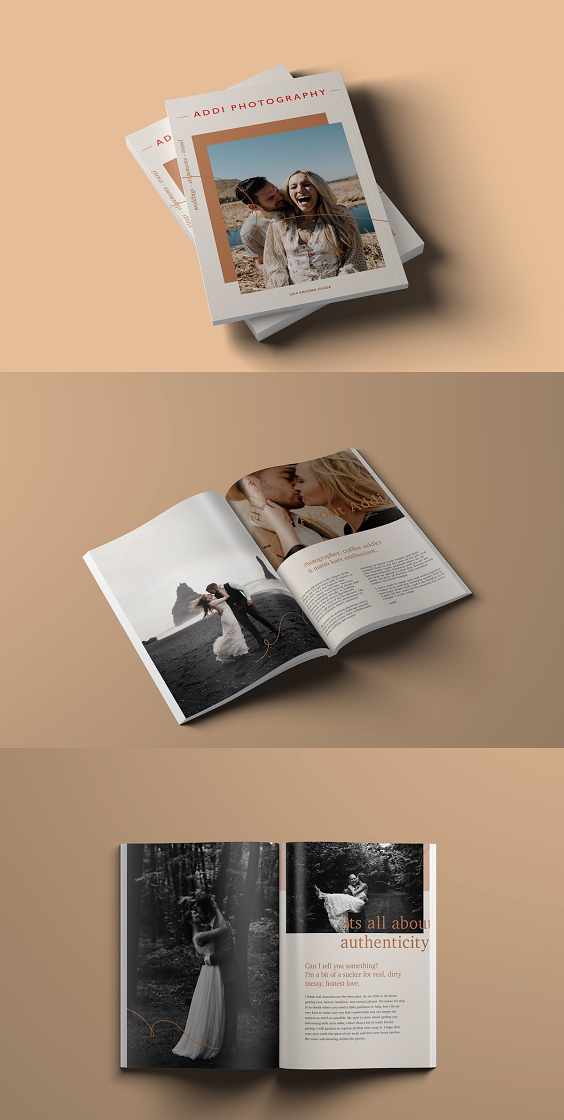 Wedding Photographer Magazine Brochure