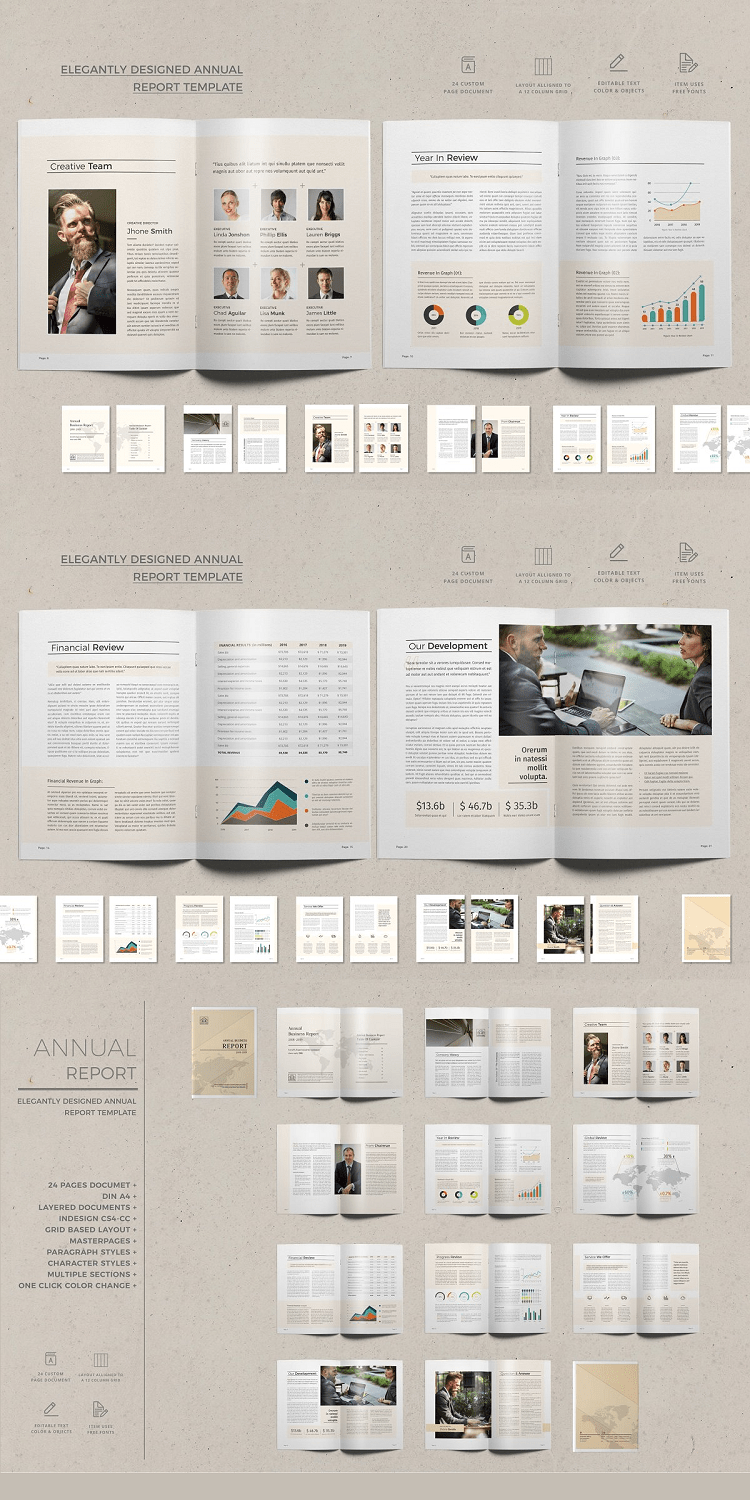 24 Page Corporate Annual Report Template
