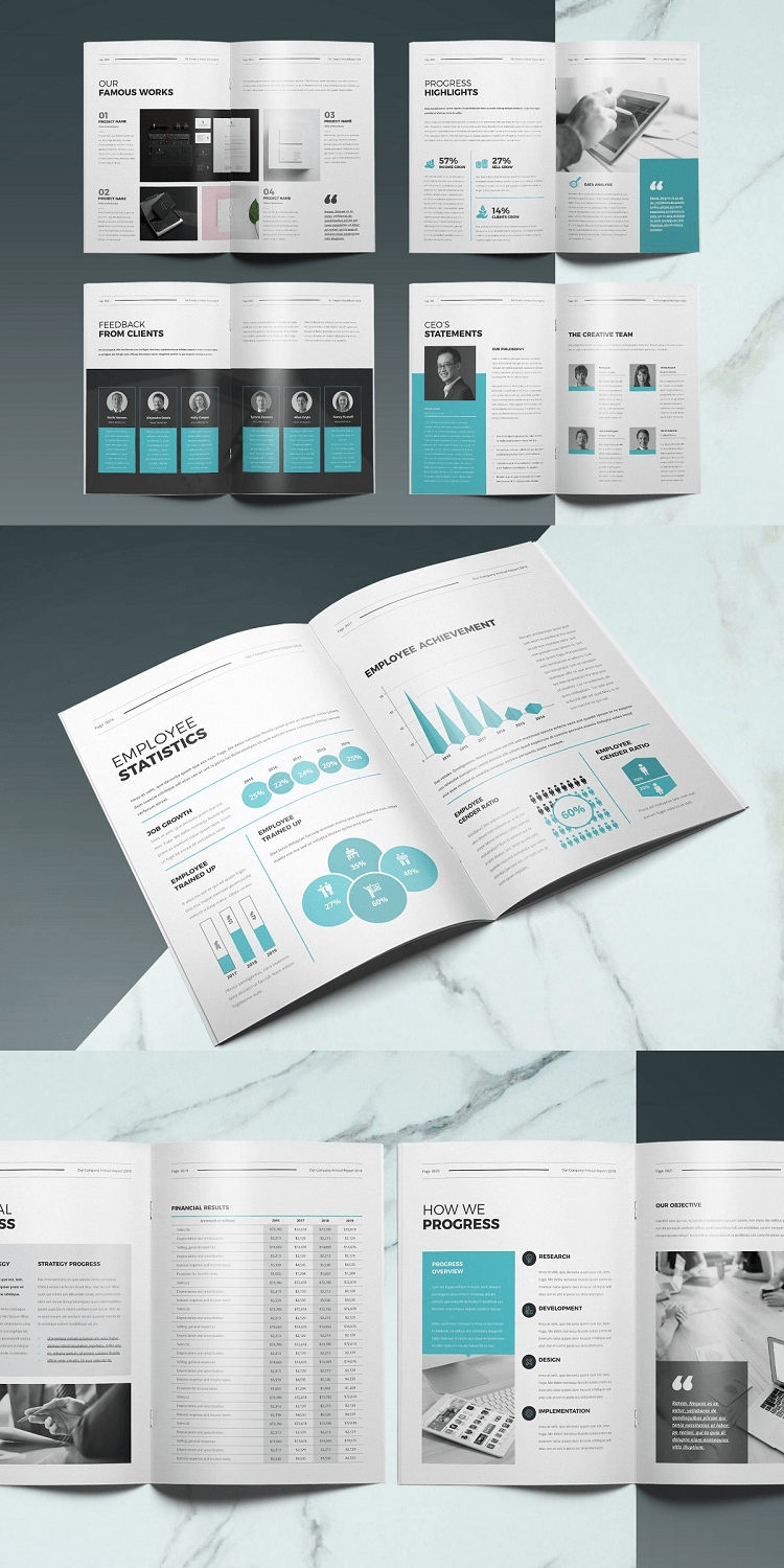 28 Page Corporate Annual Report Template