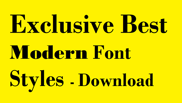 Best Modern Font designs