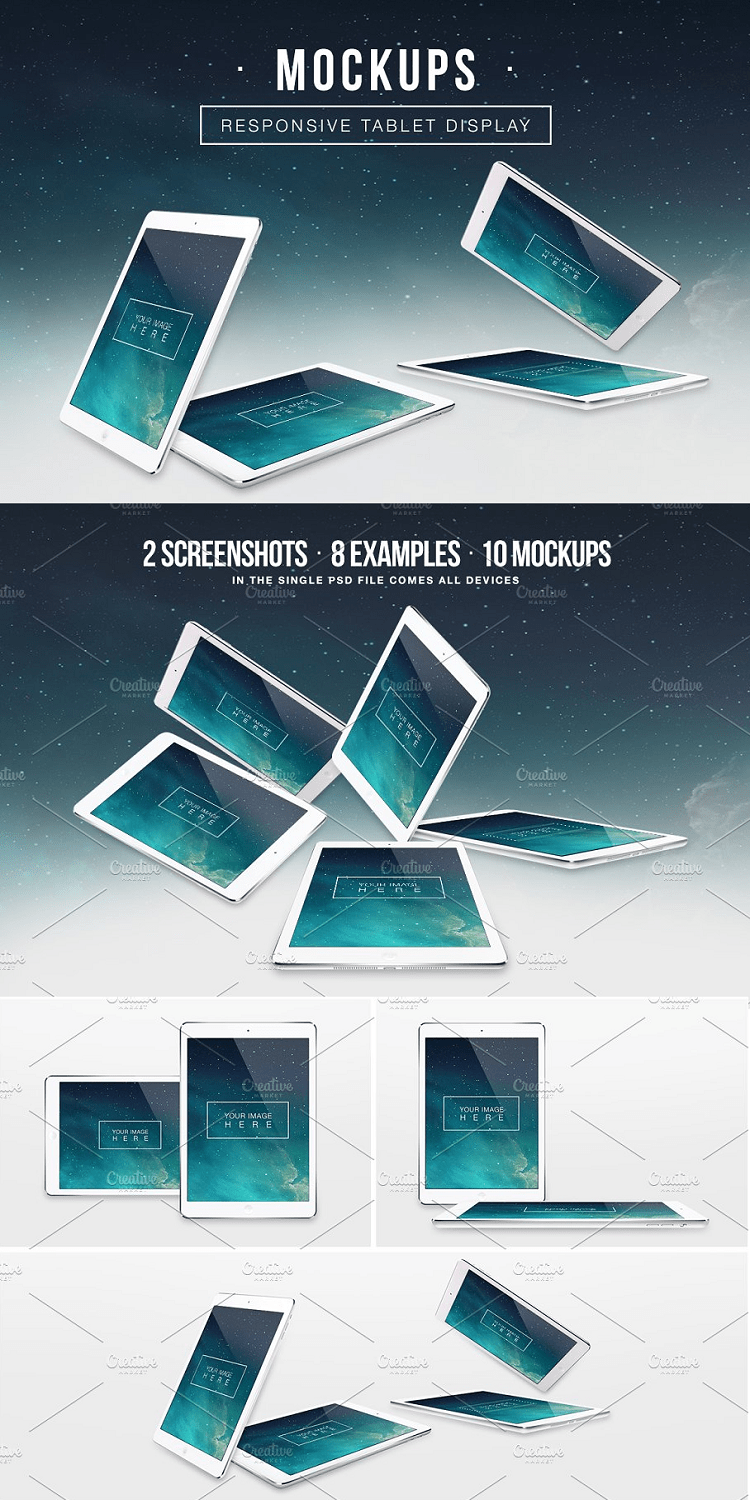 Responsive Tablet Display Mockups