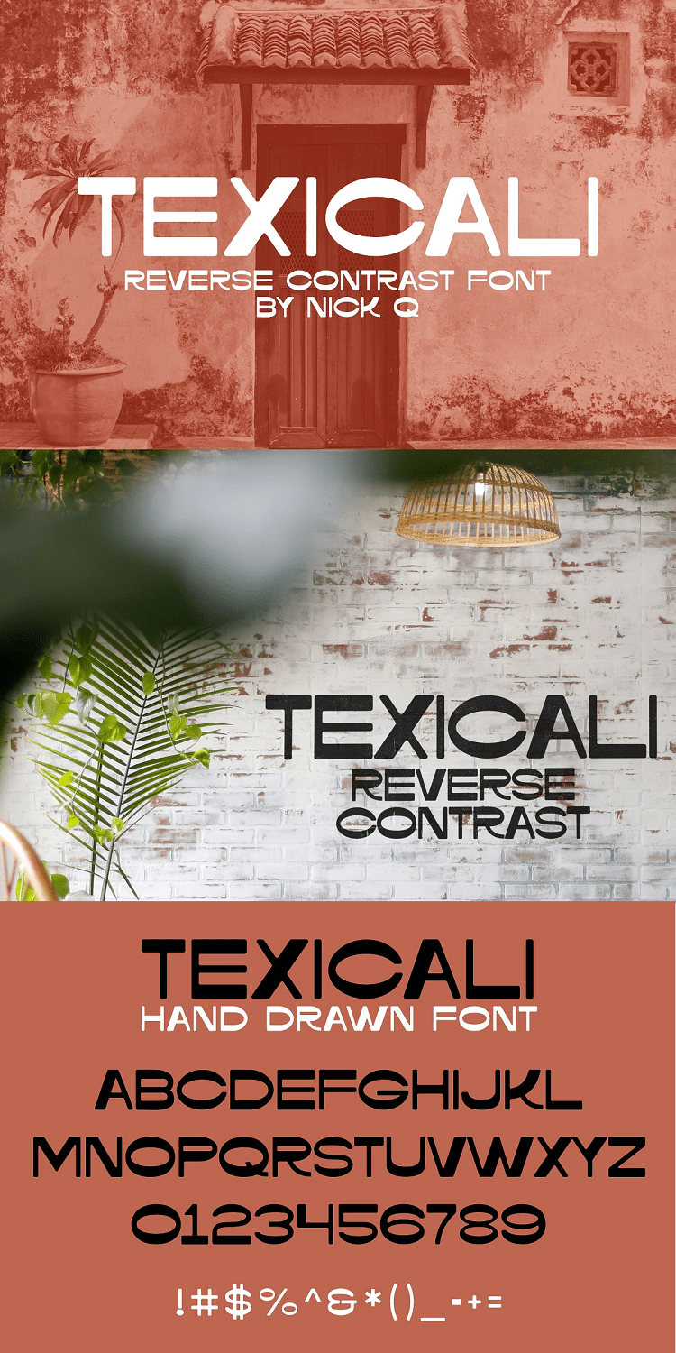 Texicali Reverse Contrast Font