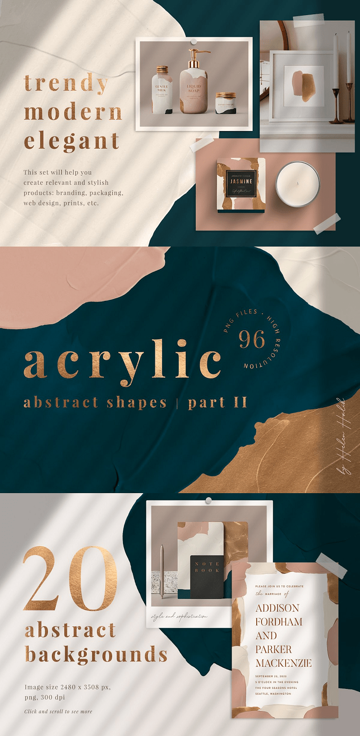 Acrylic abstract shapes part II
