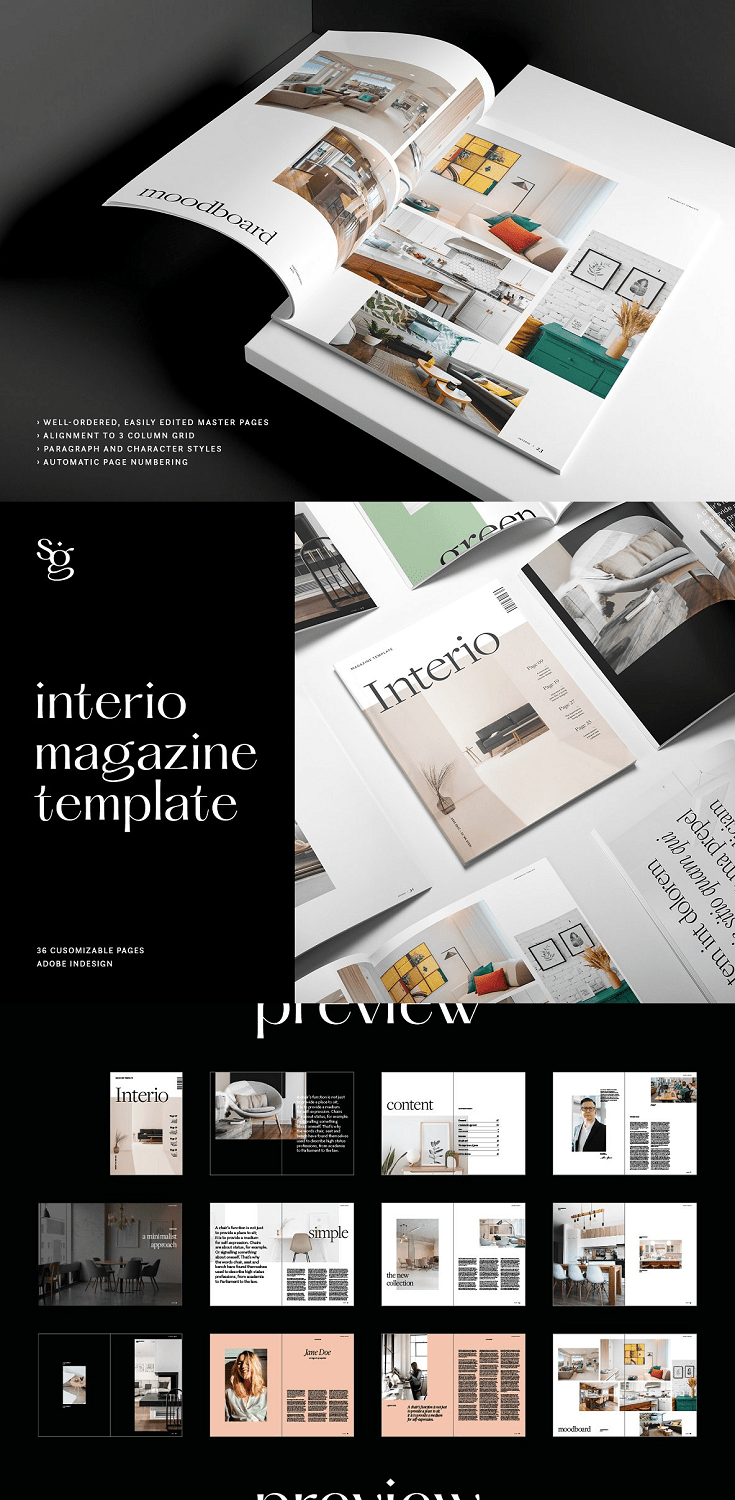 it is a magazine template described via way of means of its placing design. Compatible with Adobe InDesign, Interio is good for identify classes which include interior, fashion, design, meals and lifestyle. Its contemporary-day layouts are to be had in each A4 and US letter length and the default colour picks are without difficulty modified. Interio employs Adobe Fonts, which can be loose to apply with a Creative Cloud license; fonts also can be without difficulty substituted via way of means of following the easy commands in our manual. The Interio .Zip record consists of a complete customization manual to feature and take away pages in line with your needs.