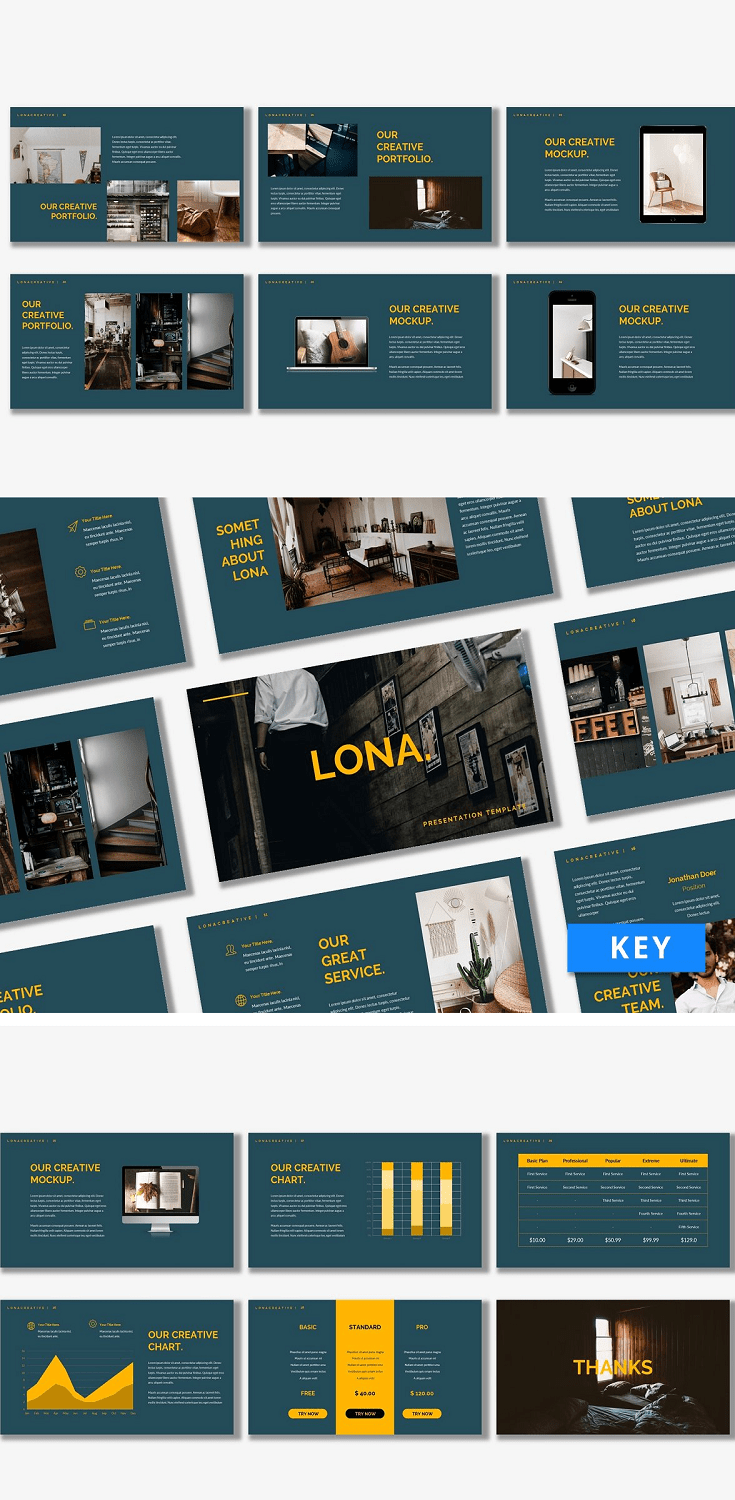 Introducing Lona - Keynote Template. This template will help you explain the newest strategy that will take your business to the next level.