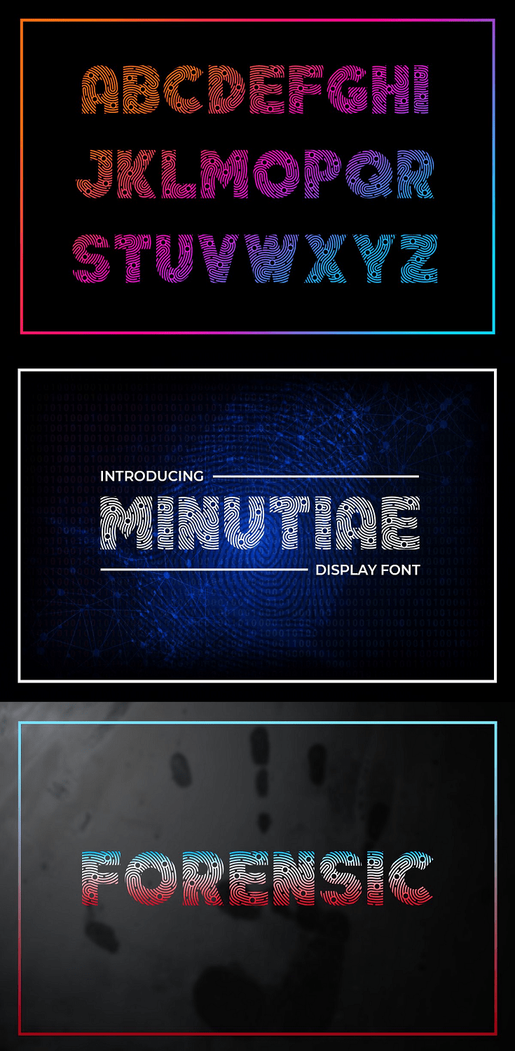 Minutiae Display Font