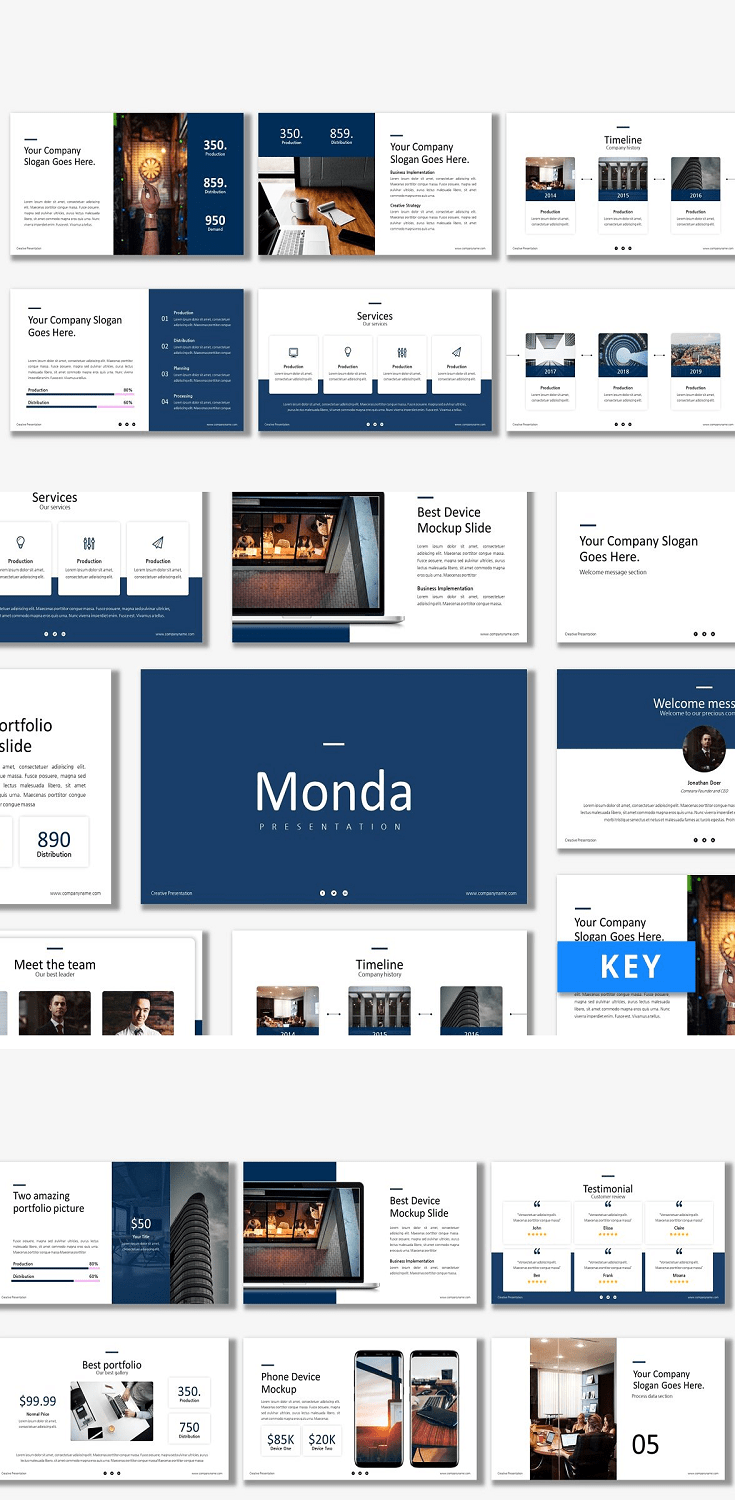 Introducing Monda - Keynote Template. FEATURES Total Slides: 30 Slides All graphics resizable and editable