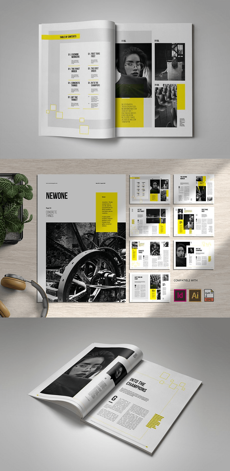 This Is a Professional Magazine Template. The File is properly prepared with smooth customization and editing. This Template designed the use of InDesign and Illustrator, The Template is minimum and fashionable design. Each web page functions precise layouts with present day typography after which many layouts for the pictures with titles and descriptions.