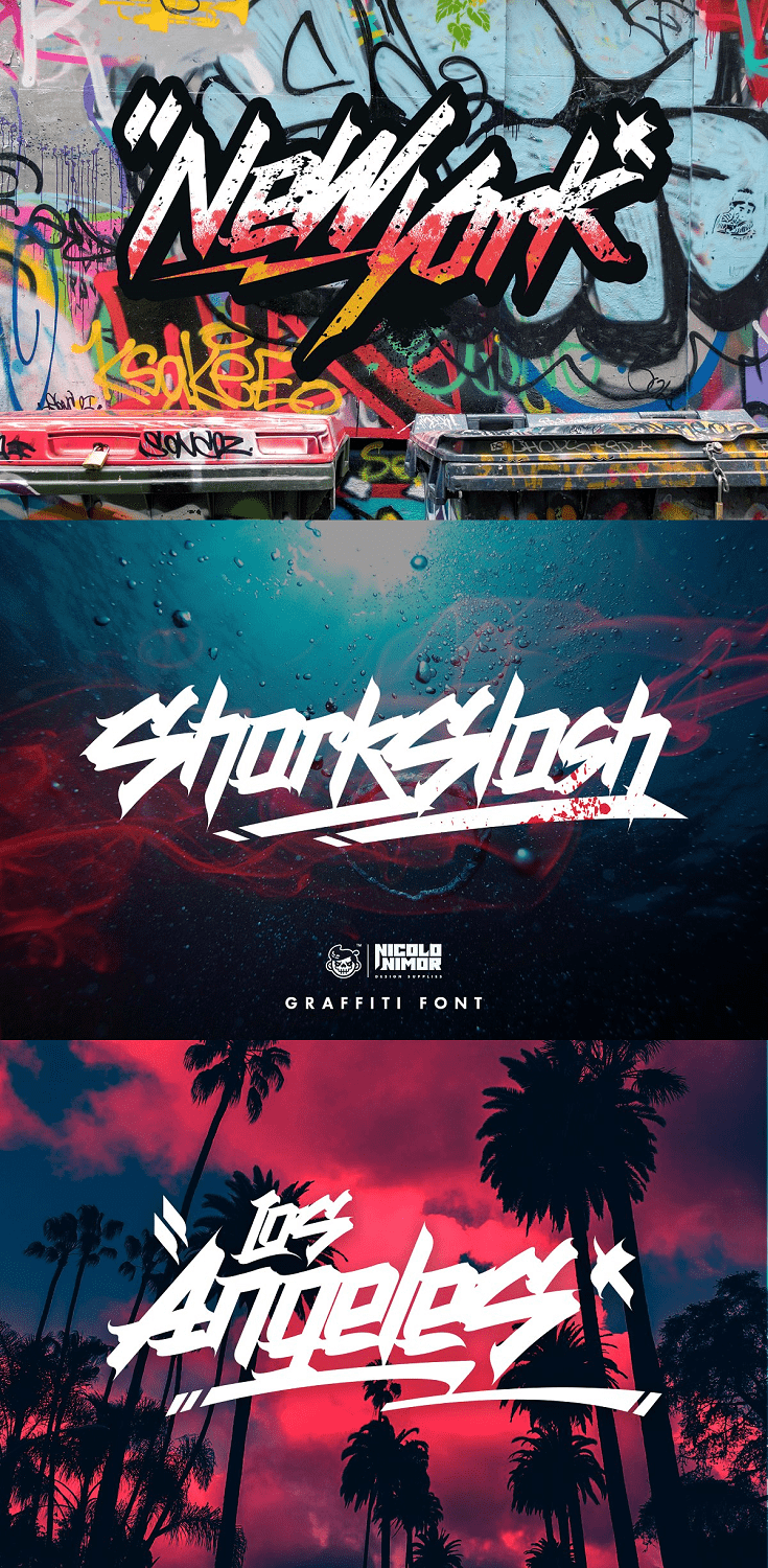 SHARKSLASH Graffiti Font