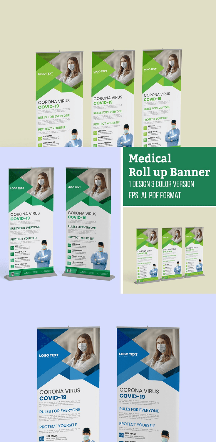 Medical Health Care Roll-Up Banner