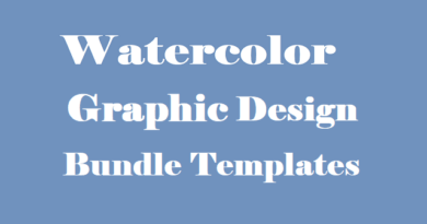 Watercolor Graphic Design Bundle Templates