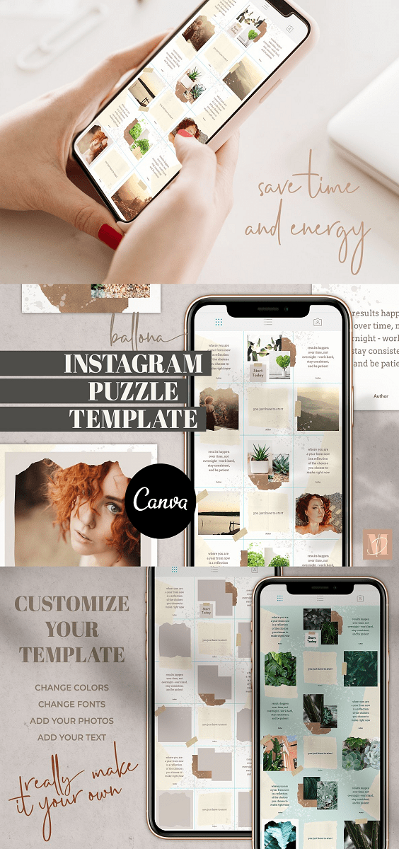 Instagram Puzzle for Canva Bellona