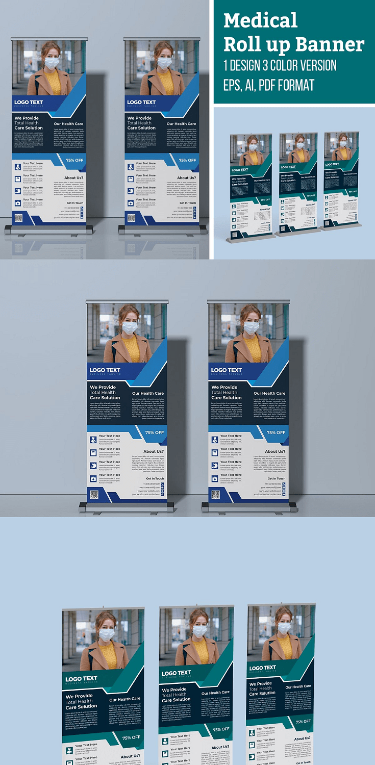 Medical Health Roll up Banner