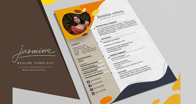 Simple Resume Template Designs