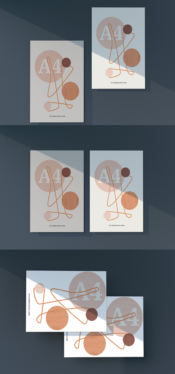 A4 Paper Poster Mockup One of the best Paper Poster mock-up set is here to help you showcase your drawings, pictures and photos. You can easily add your designs to these mockups using smart object option. Furthermore, you can also customize the effects, shadows and background of these mockups using special layers. Amazing Features: 7 PSD Mockups Organized Layers Customizable effects Adjustable background Smart object operated High resolution 3 EASY STEPS TO ADD YOUR DESIGN Open the PSD file and double-click on the Smart Object Layer.