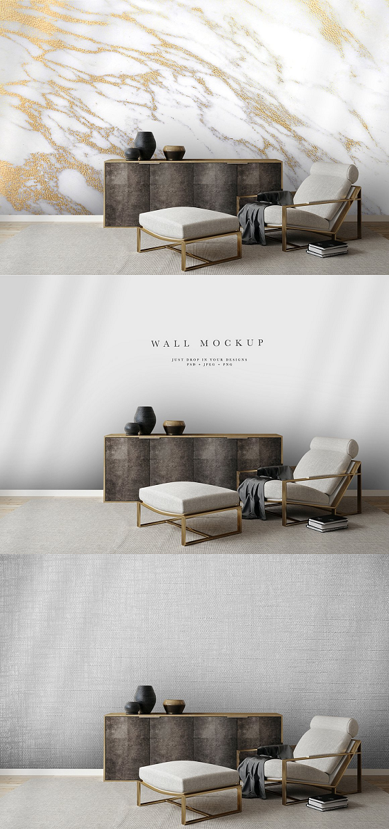 Wall Mockup #24, Wallpaper Mockup All mockups have accurate lighting and calibrated shadows to give your designs a high-quality finish attracting more attention to your work and increase sales in your online store. You will get: 1 x Photoshop PSD file with a Smart Object layer so you can effortlessly insert your own designs quickly and easily