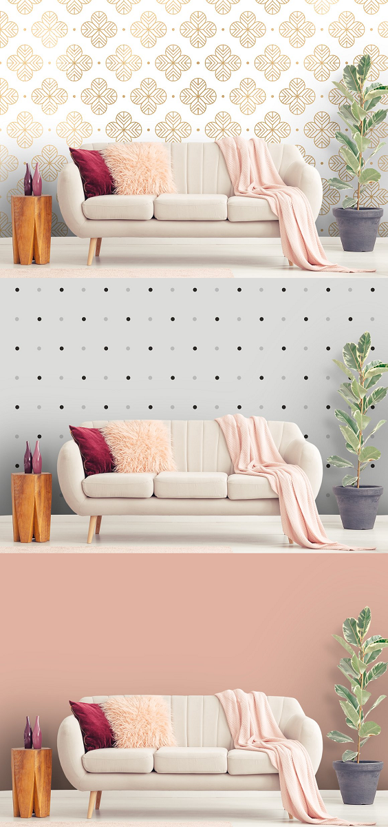 Living Room interior mockup lawless and modern wall mockup that can be used to display your products and photographs on your website, online platform, social media or anywhere you feel fit. You will get: 1 x Photoshop PSD file with a Smart Object layer so you can effortlessly insert your own designs quickly and easily 1 x JPEG File perfect for use in CANVA