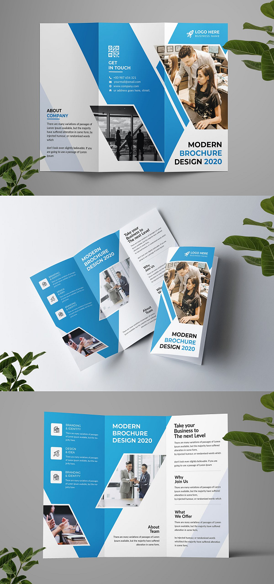 "This Brochure template is suitable for a creative and corporate agency. I try to make this brochure template visually appealing and you can use this Brochure for advertising and marketing materials. It's made with Photoshop and easily editable text, logo, color, image, and all layers are properly organized. In this PSD file, totally free and popular font used. Feature: Print Ready CMYK Color 300dpi Fully Editable, Layered High Resolution Adobe Photoshop PSD Format File Included 8.26x11.69 inches (0.25"" bleed) Easy editable Use google fonts Free Font use Smart object Photos are not included. Files included: 2 PSD Files 1 Information File 1 Read Me File Font link included in the main file."