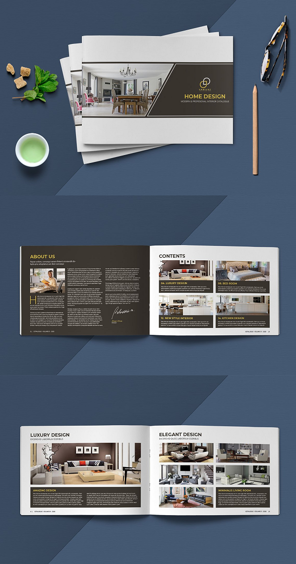 This is 16 pages Clean, elegant, modern and professional Interior Catalogue template. Suitable for any kind of businesses, corporate and can be also used for any other publishing and any kinds of catalogue. You will get the file in INDD and IDML InDesign format. It is fully editable, customizable and easy to work with. This Catalogue can serve multipurposes  FIles Included:  Size A4 (8.27x11.69) Size Letter (8.5x11) Size A5 (5.8 x 8.3) indd (InDesign format) idml (InDesign format) PDF Files Features:  16 Pages Stylish Layout Clean and Modern Layout Paragraph Styles Layered Template Print-ready with bleed Auto page number Built-in free fonts